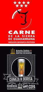 Carne de la Sierra de Guadarrama. Cerveza de Bodega Estrella Galicia